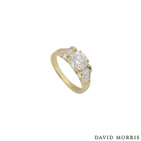 David Morris Yellow Gold Diamond Ring 1.40ct H/VS1